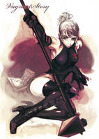 Crimson Blade Commander by amatoy