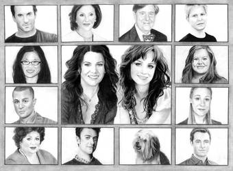 Gilmore Girls Cast by kitsunegari16
