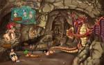 Dragon hoard by CrimsonWolf64