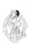 Lady Mechanika inks 3 by BRuppert