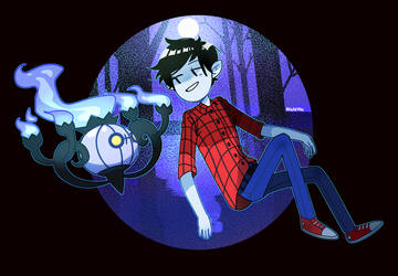 Marshall Lee and Chandelure by Rensaven