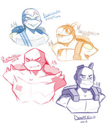 tmnt 2018 - sketch #1 by AMerakiDom