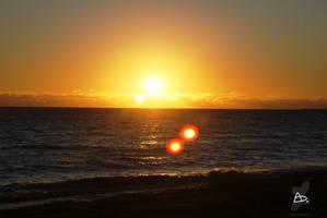 Yellow Summer Sunset by YERDUA