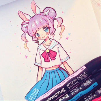 Mixie with markers by Pemiin