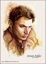 Jensen Ackles. Watercolors by diablana81