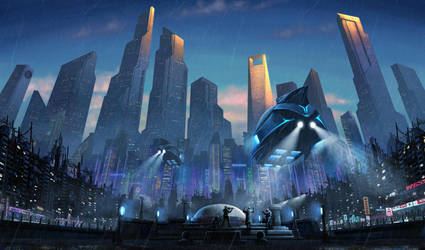 Cyberpunk Seoul by Wu-Gene