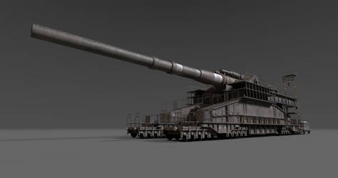 Schwerer Gustav Railway Gun by Wu-Gene