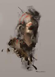 tribal sketch by Ka---Z
