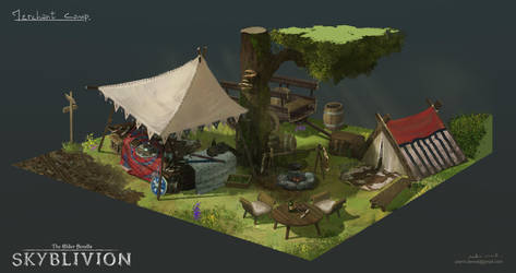 camp concept art : merchant by Ka---Z