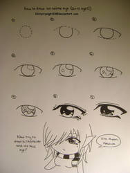 How to draw anime eye D by 33starrynight33