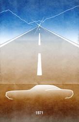 Movie Car Racing Posters - Vanishing Point by Boomerjinks