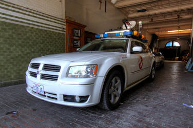 Ecto-1 Magnum visits Firehouse Interior Location by Boomerjinks