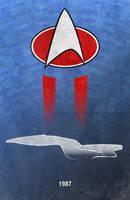 MovieCarPosters.com - Enterprise 1701-D by Boomerjinks