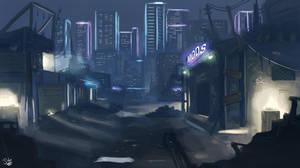 Cybercity Knights - High Tech, Low life by BadLuckArt