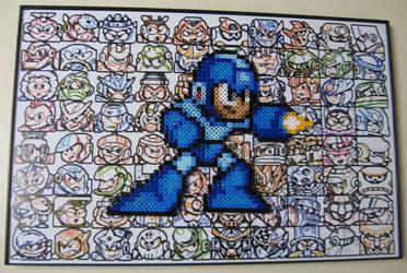 Perler Megaman by Dlugo1975