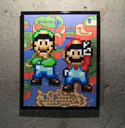 Perler Mario and Luigi (Super Mario World) by Dlugo1975