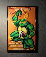 Perler Michelangelo TMNT by Dlugo1975