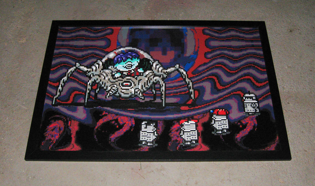 Perler Earthbound Pokey Fight by Dlugo1975