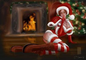 Mai Shiranui - Merry Christmas by Oni-Mouko