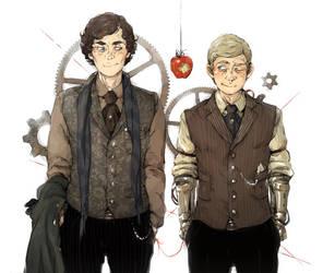 Sherlock: Steampunk Soulmates by sweetlittlekitty