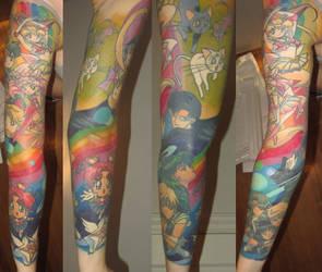 Sailor moon tattoo sleeve by shinchik
