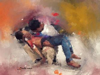 Pieta of syria by Delawer-Omar