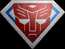 Brushed metal Super Autobot Shield by KalEl7