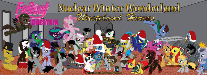 Nuclear Winter Wonderland Wasteland Heroes by geo-vaga