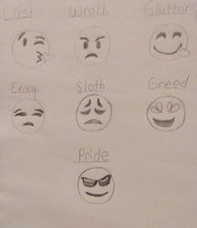 Seven Deadly Sins  (Emoji Style) by Shena92
