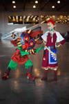 Waaaassuuuup, girl - Zelda and Skullkid by GlamForUs