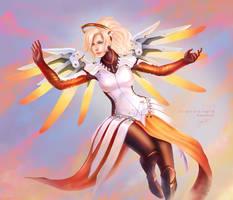 Mercy - Overwatch by SirensReverie