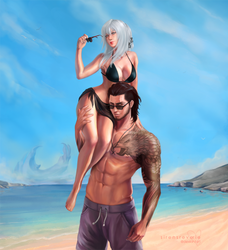 [CM] Aranea and Gladio by SirensReverie
