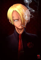 Portrait of pirate - Sanji by limandao