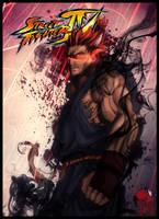 Street fighter IV - AKUMA by limandao