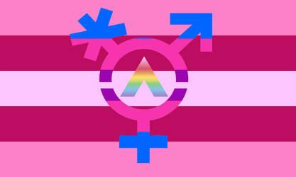 Trans Feminine Ally Flag by Starartista87