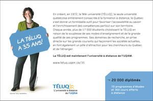 Publicite 35ans TELUQ by albator
