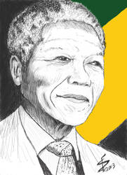 Hommage Mandela D Fourcaudot by albator