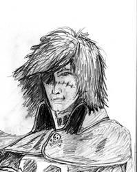 Captain Harlock (Albator in french) sketch by albator