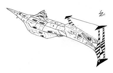 Spaceship Sketch by albator