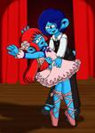 Love Couple 10: Nillala and Dancer Smurf by sandapolla