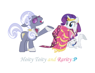 Hoity Toity and Rarity by 123kennix