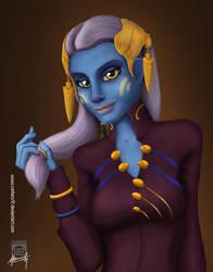 Blue skinned beauty by Mauricio-Morali