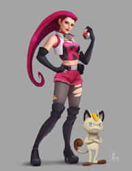 Team Rocket: Jessie Redesign by Mauricio-Morali