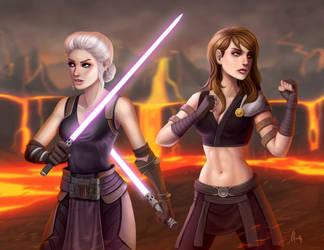 Star Wars The Old Republic: Doriella and Valery by Mauricio-Morali