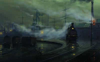 industrial Landscape study... by Raphael-Lacoste