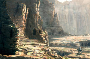 in the Petra Ruins... by Raphael-Lacoste