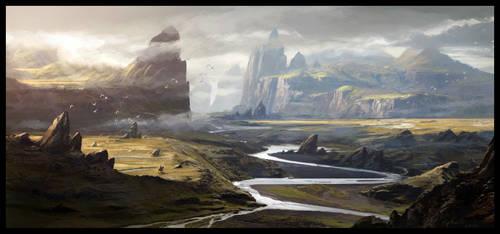 Landscape by Raphael-Lacoste