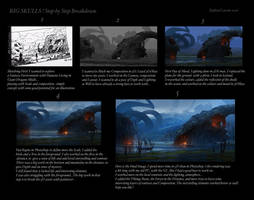 Dragon's Lair Step by step Breakdown by Raphael-Lacoste