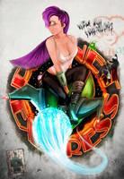 Futurama Leela pinnup style by RaiderP