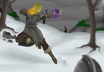 [Skyrim] Blasting the Stormcloaks away by EvilCharlotte